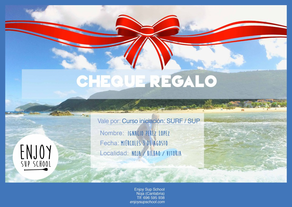 cheque-regalo enjoy sup school