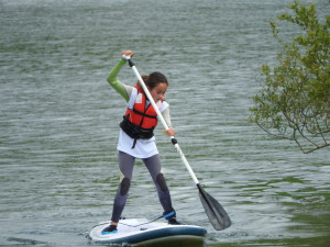 aprendiendo stand up paddle surf en vitoria