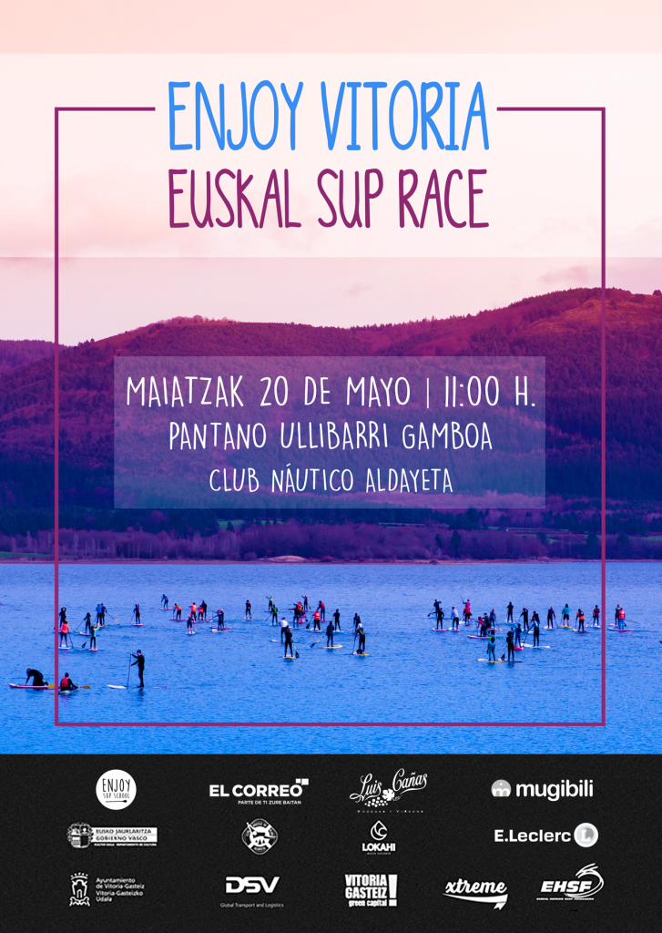 cartel enjoy sup race vitoria